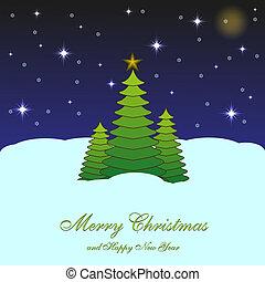 メリークリスマス, 背景, ∥ために∥, あなたの, design., ベクトル, イラスト