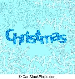 メリークリスマス, design., 凍らせられた, 背景