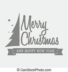 メリークリスマス, logotype, ∥で∥, グラフィック, クリスマス, 木。, 缶, ありなさい, 使われた, デザインに, カード, ポスター, 飾り付ける, メニュー, 店の窓