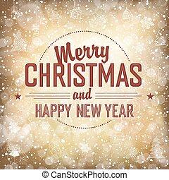 メリークリスマス, vector., カード