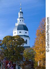 メリーランド, 州会議事堂, ある, 国会議事堂, 中に, annapolis