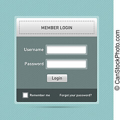 メンバー, ウェブサイト, ログイン, 要素