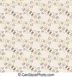メンフィス, スタイル, pattern., 幾何学的, seamless