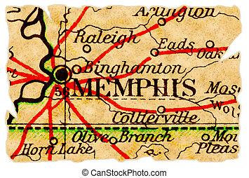 メンフィス, 古い, 地図