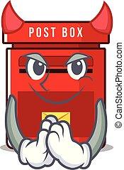 メールボックス, ベクトル, マスコット, 悪魔