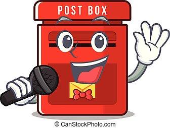 メールボックス, ベクトル, マスコット, 歌うこと