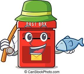 メールボックス, ベクトル, マスコット, 釣り