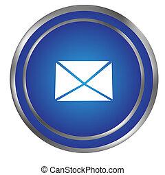 メール封筒, アイコン, ボタン