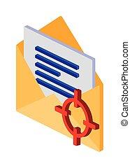 メール封筒, ターゲット, ポインター