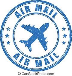 メール, ベクトル, 切手, 空気
