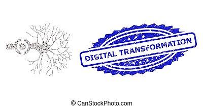モザイク, アイコン, デジタル, シール, 切手, recursion, 変形, ニューロン, インターフェイス, ゴム
