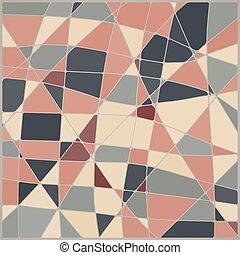 モザイク, 抽象的, ベクトル, レトロ, 背景