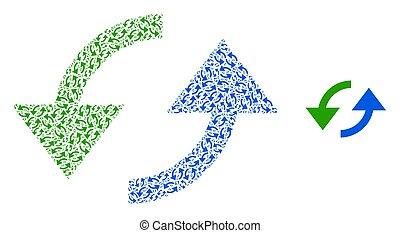 モザイク, 自己, sync, 項目, recursion, 矢