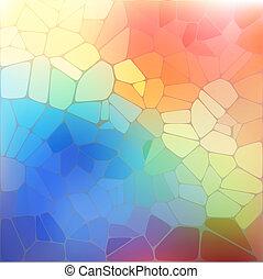モザイク, 虹, 幾何学的, 背景, カラフルである