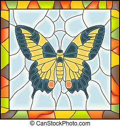 モザイク, butterfly.