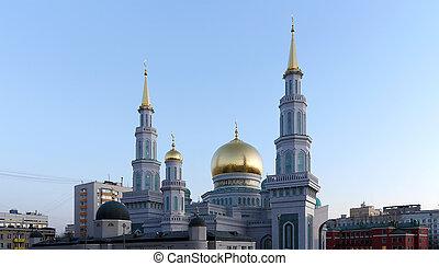 モスクワ, ランドマーク, モスク, ロシア, モスクワ, 本, --, 大聖堂, モスク, 新しい