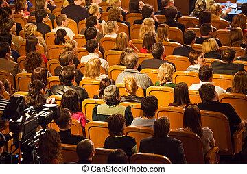 モスクワ, -, 3月, 28:, 聴衆, 上に, kvn, -, クラブ, 朗らかである, そして, 機略に冨む,...