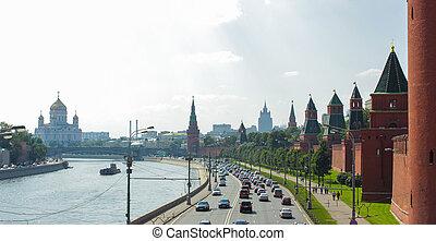 モスクワ, kremlin, 堤防