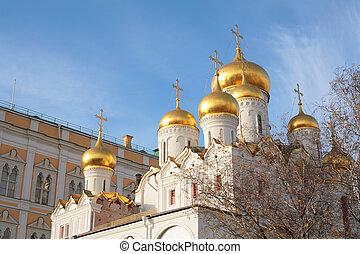 モスクワ, kremlin, 教会