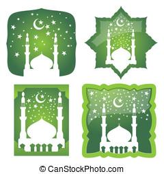 モスク, ベクトル, 星