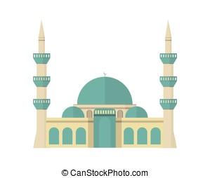 モスク, ベクトル, 有色人種