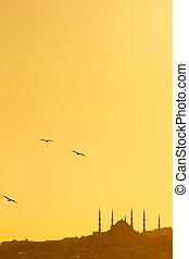 モスク, 日没