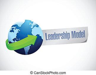 モデル, リーダーシップ, デザイン, イラスト, 印