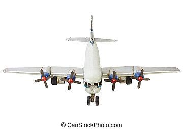 モデル, 古い, 一般的, コマーシャル, 隔離された, 白, 飛行機