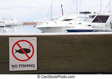 モデル, 木製である, いいえ, 港, 印, 警告, 釣り, 背景, ボート, ベンチ, 桟橋, ブロック
