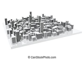 モデル, 都市