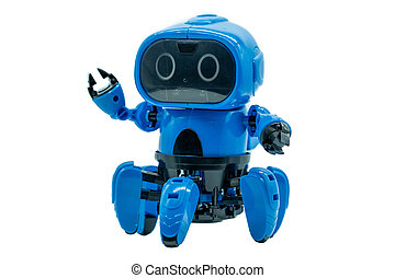 モデル, 青, ロボット, おもちゃ
