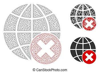 モデル, globalization, ワイヤー, 止まれ, 噛み合いなさい, ベクトル, フレームアイコン, 三角形,...