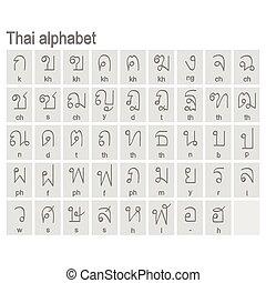 モノクローム, アルファベット, アイコン, タイ人