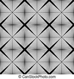 モノクローム, デザイン, seamless, パターン