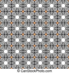 モノクローム, デザイン, tetragon, seamless, パターン