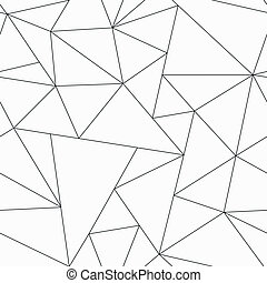 モノクローム, 三角形, seamless, パターン