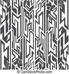 モノクローム, 種族, seamless, パターン