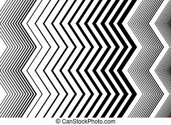 モノクローム, 背景, 幾何学的, 筋, ストリップ, grayscale, ジグザグ, パターン, ライン, 交差しなさい, 縦, stripes., 白, 波形, のこぎり状である, 黒, 手ざわり, 振ること, 波状, 鋭い