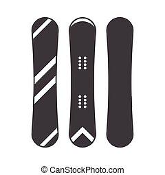 モノクローム, snowboard, アウトライン, アイコン
