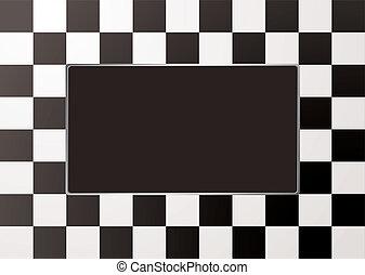 モノラル, フレーム, checkered, 映像