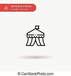 モビール, サーカス, editable, stroke., element., デザイン, 網, 完全, icon., ベクトル, あなたの, 単純である, プロジェクト, アイコン, イラスト, 色, テンプレート, 現代, pictogram, ビジネス, シンボル, ui