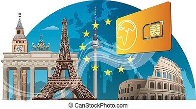 モビール, サービス, ヨーロッパ