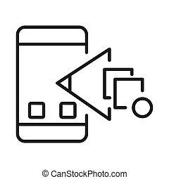 モビール, チェックポイント, app, アイコン