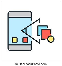 モビール, チェックポイント, app, 色, アイコン