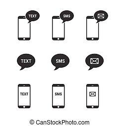 モビール, テキスト メッセージ, sms, メール