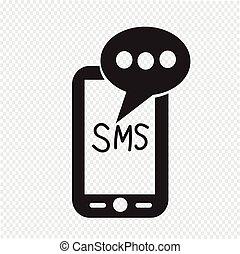 モビール, テキスト, sms, メール, メッセージ, アイコン