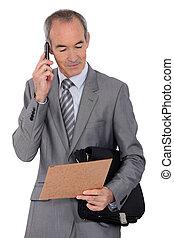 モビール, ビジネスマン, 電話