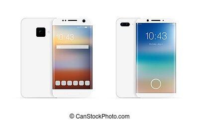 モビール, 現実的, smartphone, 3d, 電話