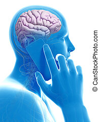 モビール, 脳, 影響, 電話