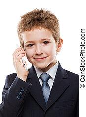 モビール, 話し, 子供, 電話, 男の子
